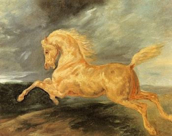 Horse frightened by lightning by Theodore Gericault