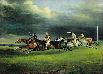 Derby at Epsom by Theodore Gericault