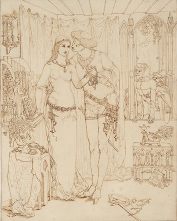 Faust and Marguerite by Simeon Solomon