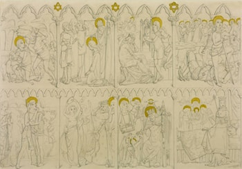Eight Scenes from the Story of David and Jonathon by Simeon Solomon