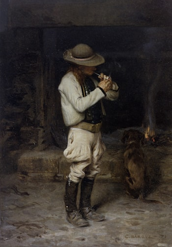 The Smoker by Charles Bargue
