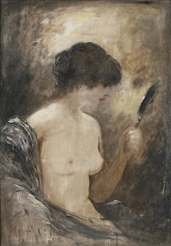 Nude with a Mirror by Henri Gervex