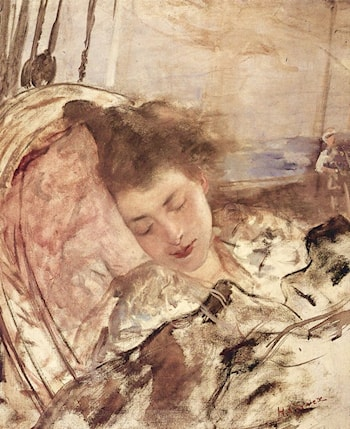 Mme. Gervex Asleep by Henri Gervex