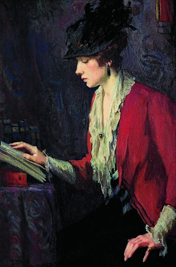Lady in a Red Jacket by Mary Bradish Titcomb