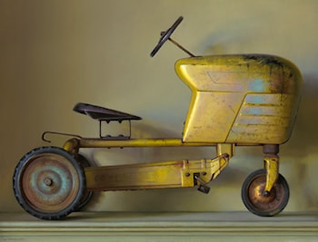 Yellow Tractor by Jeffrey T. Larson