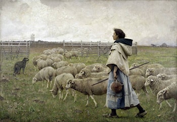 Le Retour du Troupeau by Charles Sprague Pearce