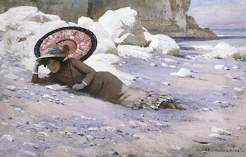 Reading by the Shore, by Charles Sprague Pearce