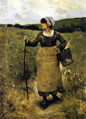 Across the Fields by Charles Sprague Pearce