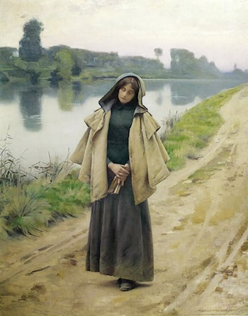 Girl by a Path by Charles Sprague Pearce