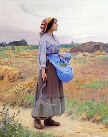 Returning from the Fields by Charles Sprague Pearce