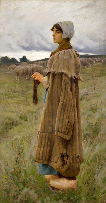 Shepherdess in the Fields by Charles Sprague Pearce