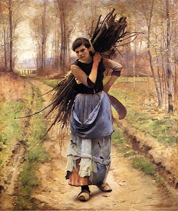 The Woodcutter's Daughter by Charles Sprague Pearce