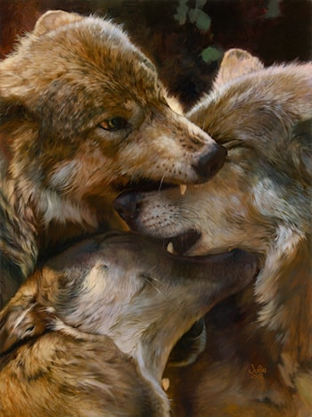 A Wolf Tradition by Julie Bell