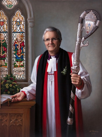 In St John's Church. Portrait of Bishop R. Paterson by Svetlana Cameron