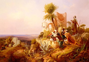 Arabs In A Hilltop Fort by Niels Simonsen