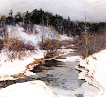 The Frozen Pool, March by Willard Leroy Metcalf