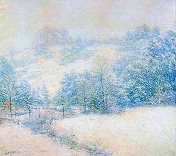 The Winter's Festival by Willard Leroy Metcalf