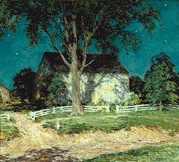 Old Homestead Connecticut by Willard Leroy Metcalf