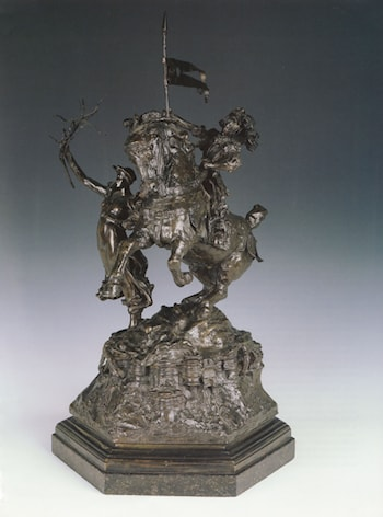St George and the Dragon, Victory Leading: sketch­model for a proposed War Memorial by Alfred Gilbert