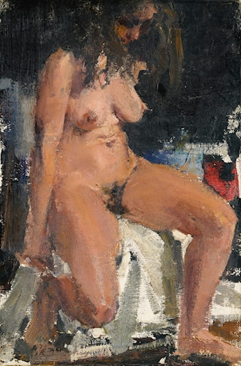 Seated Nude by Nicolai Fechin