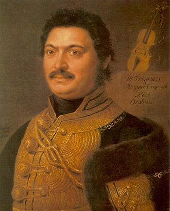 Portrait of János Bihari, Composer and Gipsy Virtuoso by Janos Donat