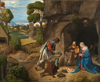 Adoration of the Shepherds by Giorgione
