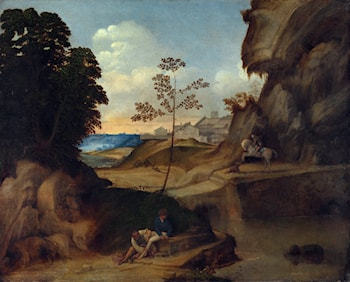Landscape with Sunset by Giorgione