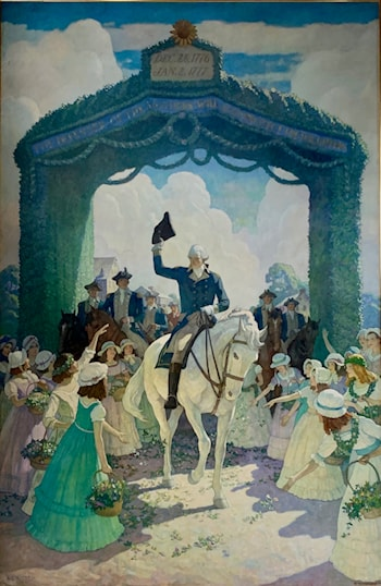 Reception to Washington on April 21, 1789, at Trenton on his way to New York by Newell Convers Wyeth