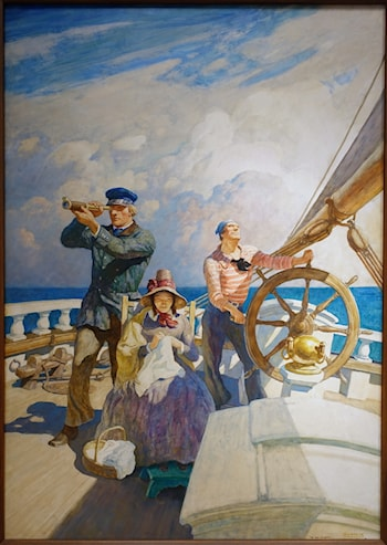 They Took Their Wives with Them on Their Cruises by Newell Convers Wyeth