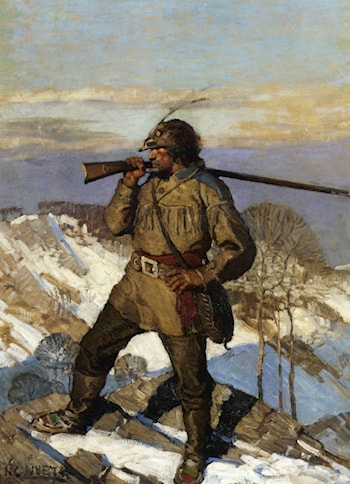 The Frontiersman Popular Magazine cover Illustration by Newell Convers Wyeth