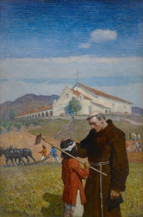 A California Mission by Newell Convers Wyeth