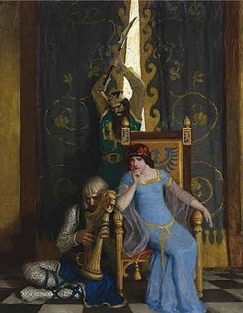 King Mark Slew the Noble Knight Sir Tristram by Newell Convers Wyeth