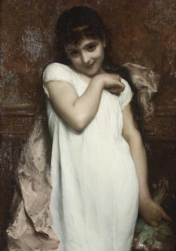 Portrait of a Young Lady by Etienne Adolphe Piot