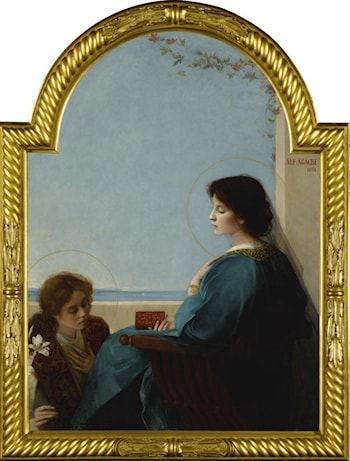 The Annunciation by Alfred-Pierre Agache