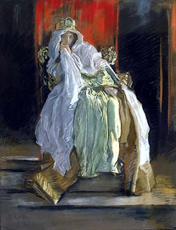 The Queen in Hamlet by Edwin Austin Abbey