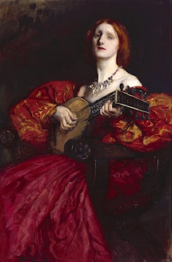 A Lute Player by Edwin Austin Abbey