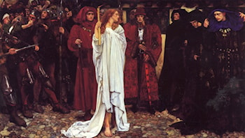 The Penance of Eleanor, Duchess of Gloucester by Edwin Austin Abbey