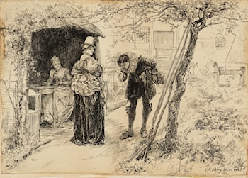 Illustration to 'Judith Shakespeare' by Edwin Austin Abbey