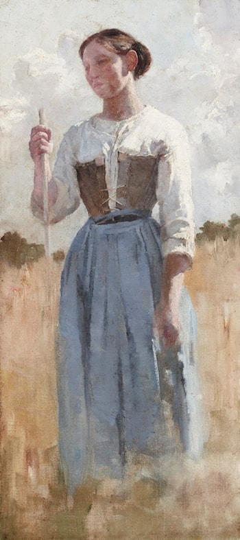 A French Peasant by Emanuel Phillips Fox