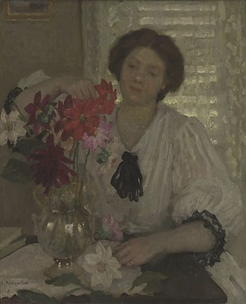 Arranging Flowers by Emanuel Phillips Fox