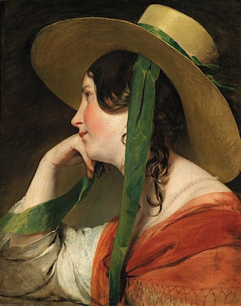 The Young Girl with the Straw Hat by Friedrich von Amerling