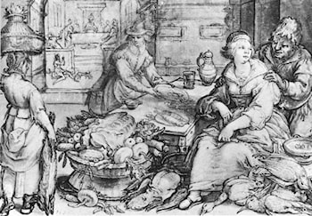 The Rich Kitchen by Hendrick Goltzius