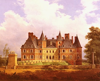 A French Chateau by Nicolas Alexandre Barbier