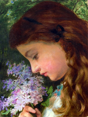 Girl With Lilac by Sophie Gengembre Anderson