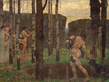 Greek Figures in a Wooded Garden by Alexander Rothaug