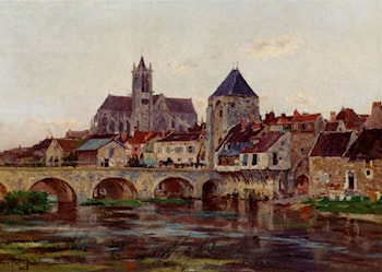 View Of Moret­Sur­Loing by Edmond Marie Petitjean