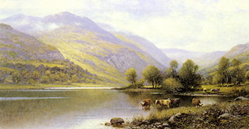 Near Capel Curig, North Wales by Alfred Augustus Glendening