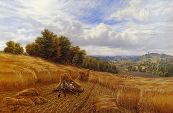 Resting From The Harvest by Alfred Augustus Glendening