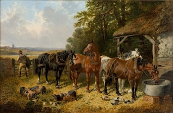 End of a long day by John Frederick Herring, Jnr.