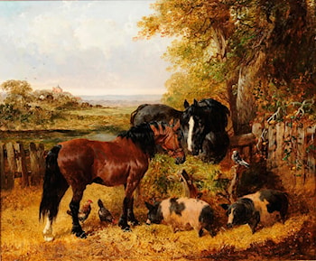 A Lunchtime Meeting by John Frederick Herring, Jnr.